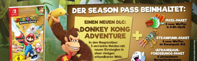 Mario + Rabbids Kingdom Battle – Donkey Kong DLC Trailer