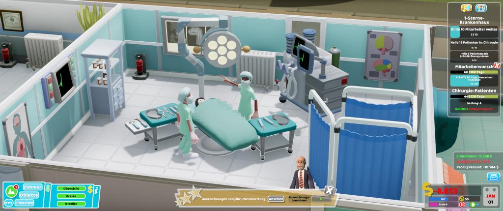 Der OP hat ein ziemliches Loch ins Krankenhausbudget gerissen.