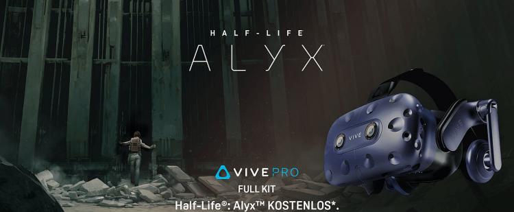 Vive Pro Full Kit – Mit Half-Life: Alyx im Bundle